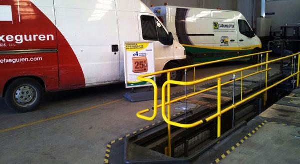 valla de protección de fosos para talleres