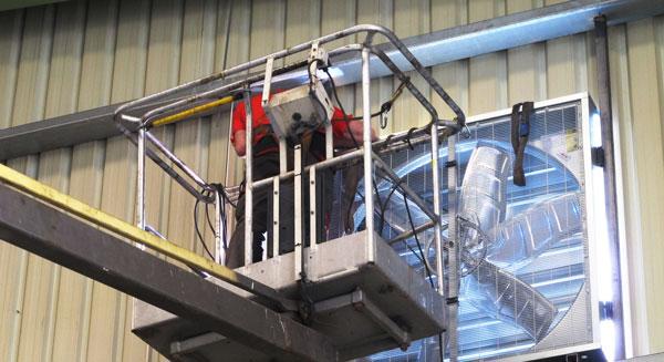 instalaciones de ventilación y filtración